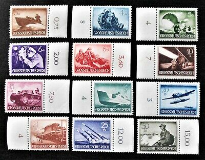 GERMANY- 1944 THIRD REICH ARMED FORCES - Complete set of 12 - MNH