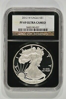 2012-W Proof American Silver Eagle $1 NGC PF69 Ultra Cameo 3683190-027