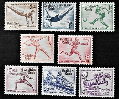 GERMANY- 1936 - BERLIN OLYMPICS Full set of 8 - MLH