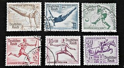 GERMANY- 1936 OLYMPIC GAMES short set of 6 - USED