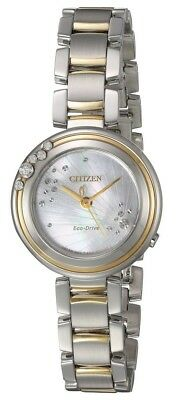 Citizen EM0464-59D Carina Eco-Drive Two-Tone Diamond Accented MOP Ladies Watch