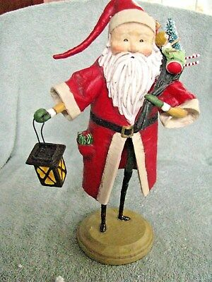 "Lori Mitchell Santa Figure Old Father Christmas Traditional NEW 12"" ESC Trading"