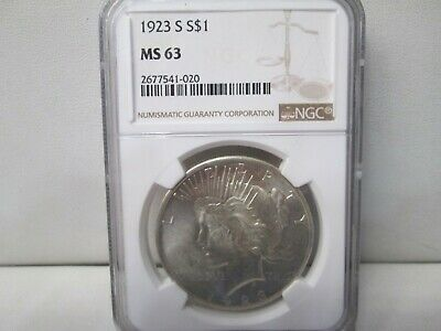1923 S US Peace Silver Dollar NGC MS 63