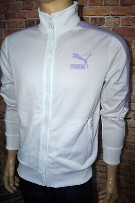 914de49b9cc2 New Puma Men s Archive T7 Track Front Zip Jacket Kelly Puma White Purple  572658