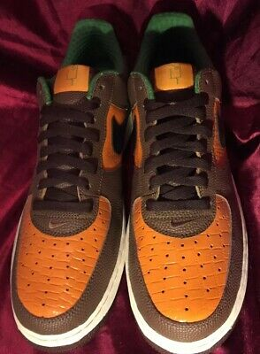 finest selection 6dd61 164ac Brand new Nike Air Force 1 06 Super Bowl Brown Orange Black Sneakers Sz12