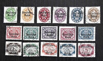 GERMANY - German Reich O/P on Bavaria Official stamps 1920 Short Set - Used