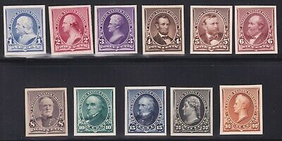 US 219P4-229P4 1890 Issue Proofs on Card VF-XF SCV $620 (004)