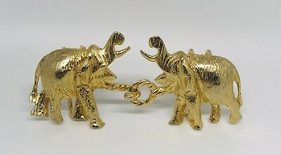 VINTAGE 1972 MIMI Di N GOLD TONE ELEPHANT GOOD LUCK LARGE BELT BUCKLE EUC