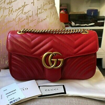 eb0edea08224 GUCCI SMALL MARMONT PINK GOLD LEATHER SHOULDER BAG Dionysus Sylvie ...
