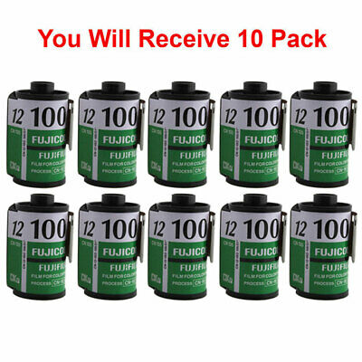 10 Rolls Fuji 100 35mm Film CN 135-12 Exp Color Print Fujicolor Tested Exp 2010