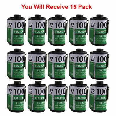 15 Rolls Fuji 100 35mm Film CN 135-12 Exp Color Print Fujicolor Tested Exp 2010