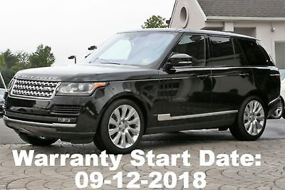 2017 Land Rover Range Rover V8 Supercharged 2017 Warranty Start Date is 09-12-2018 Like New Save over $10K off MSRP Perfect