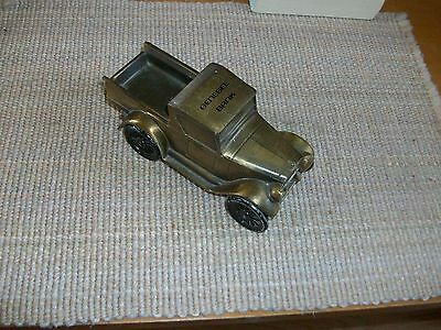 BANTHRICO Brass COIN BANK 1928 CHEVROLET TRUCK (Genesee Bank)