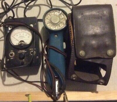 Vintage Western Electric Lineman Telephone Test Butt Set Bell System