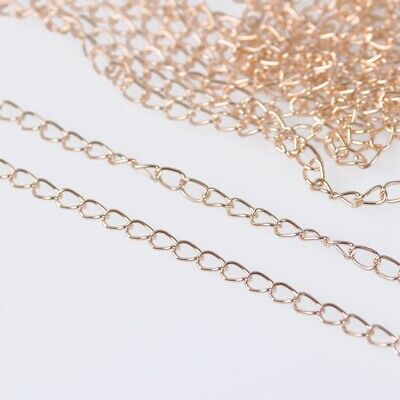 1.8mm Wide 100m Long Rose Gold Metal Jewelry Making Extension Open Link Chains