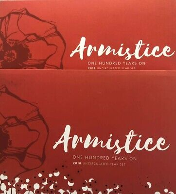 2018 Royal Australian Mint Uncirculated Six Coin Year Set - Armistice Centenary