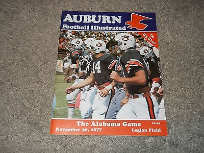 1977 Auburn Tigers vs Alabama Crimson Tide Iron Bowl Football Program - NICE!