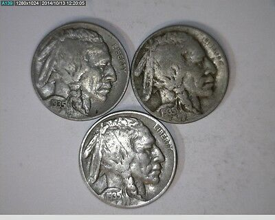 1935 P D S 5C Buffalo Nickels ( 69s85 )