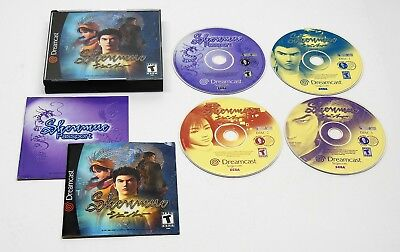 SEGA Dreamcast Shenmue 4 Disc + Passport COMPLETE TESTED FAST FREE SHIPPING