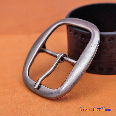 DIY Heavy Strong Center Bar Pin Belt Buckle Nickle Plated Fit 40mm Leather Strap