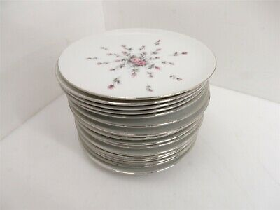 "17 Vintage Harmony House Japan Rosebud Fine China 7.75"" Salad Plates"