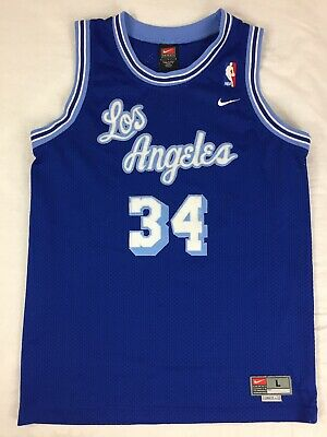 e70c9f769ff Shaquille O Neal Los Angeles Lakers  34 Nike Size Large + 2 Jersey Sewn