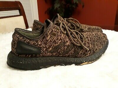 d4b45753bd67b ADIDAS PUREBOOST NIGHT Cargo Men s Size 11 Black Pre-owned -  40.00 ...