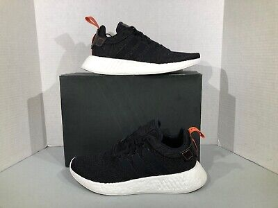 70b80bd4fa5f1 adidas NMD R2 Men s Size 8.5 Black White Athletic Sneakers Shoes YA-552