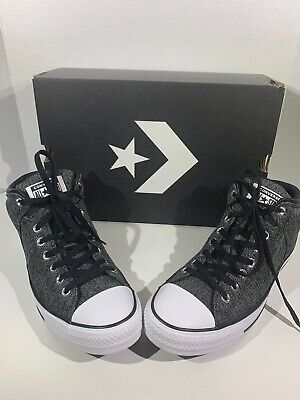 74b08c7e3081 Converse CTAS Hi Street Mens 10 Womens 12 Black Gray Hi Top Sneakers Shoes  F7-