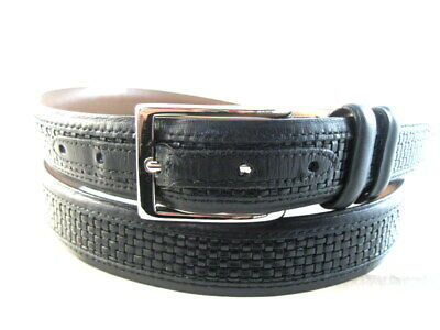 "Allen Edmonds ""WOVEN INLAY"" Dress Belt  #28001  Size 40 Black   (540)"