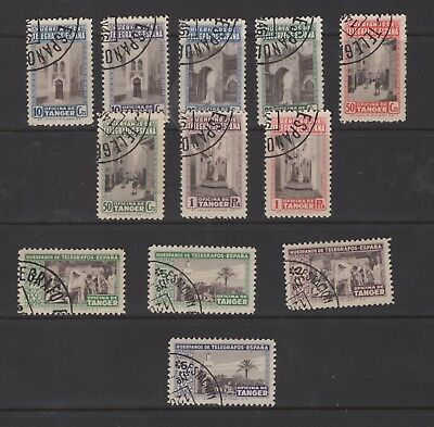 Spain, Tanger, small collection of stamps (2463