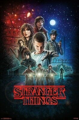"""Stranger Things - One Sheet Wall Poster  ~ 22""""x34"""" Free S/H"""