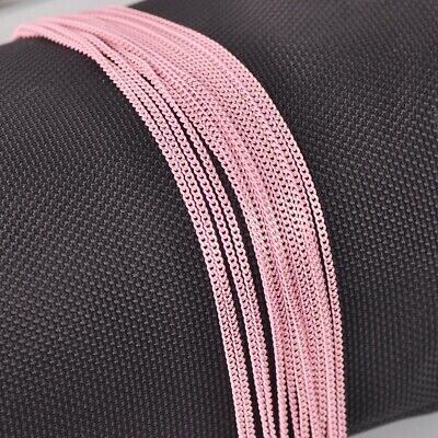 7colors 5meters Pink Color Brass Open Link Metal Chains DIY Jewelry Findings New