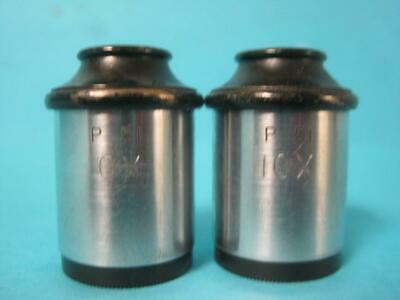Lot Of 2 P 51 Periplan 10X Microscope Eyepieces Vintage Pair Eye Pieces Rare