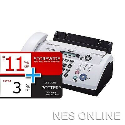 Brother FAX-878 Fax Machine Thermal Transfer FAX 20 Page Memory + ADF *NO BOX*