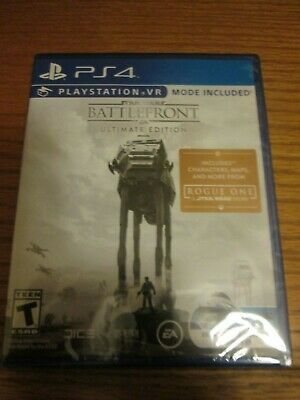 PS4 Star Wars Battlefront Ultimate Edition (Sony PlayStation 4 2016) NEW VR Mode