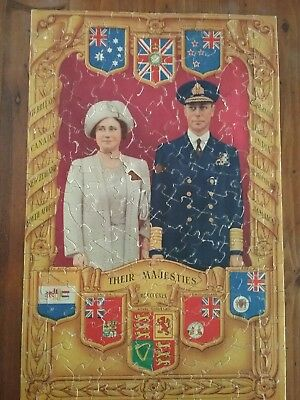 Royal family collectable jigsaw puzzle Queen Mother and George VI
