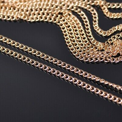 5m 2mm KC Gold Plated Metal Link Twisted Chain Jewelry DIY Findings Making Craft