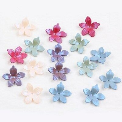 DIY 100pcs Mixed Acrylic Frosted flowers Beads Headdress flower accessories 19mm