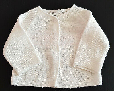 VINTAGE 60's/70's BABY GIRLS' CARDIGAN 'SMART KNIT' MADE IN AUSTRALIA - Sz 000