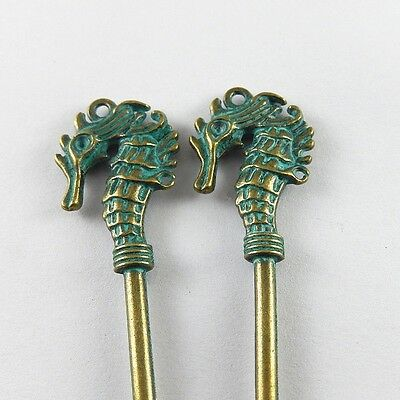10PCS Vintage Ancient bronze Alloy Key Necklace Pendant Charms Finding 52161