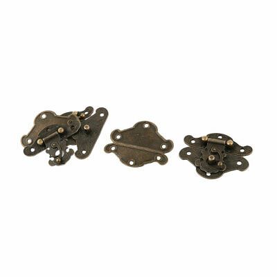 Home Metal Vintage Style Cabinet Box Case Drawer Luggage Hasp Latch 4 Pcs