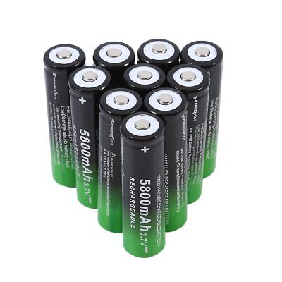 10Pc Rechargeable 18650 Batteries 5800mAh 3.7V Li-Ion Battery  HAHAH