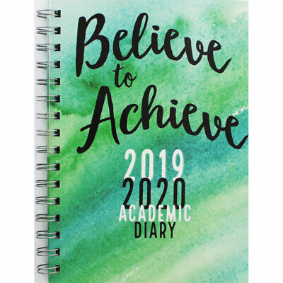 Hardback Back to School A5 Echo Week to View 2019-20 Academic Diary New