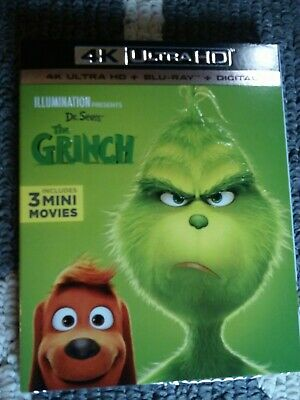 The Grinch 2018 4K Ultra HD & Blu-ray & Digital Code Movie ⭐BRAND NEW ⭐