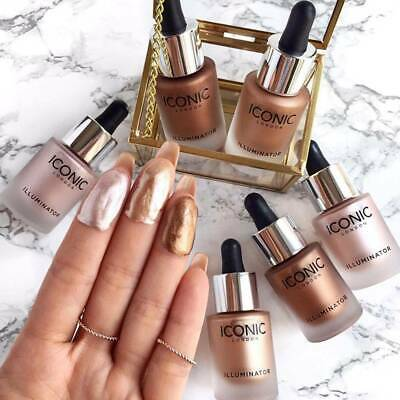 ICONIC Liquid Concealer Highlighter Makeup Shimmer Cream Face Illuminator Glow