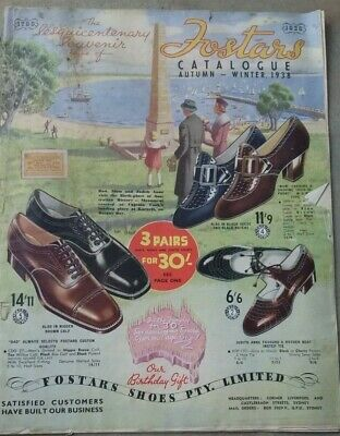 1938 Fostars Autumn winter footwear shoes fashion original mail order catalogue