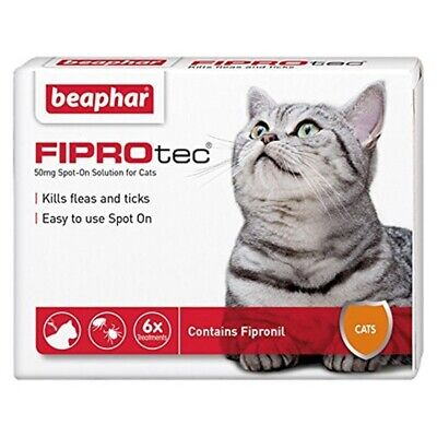 Beaphar Fiprotec Spot On Cat 6 Pipettes
