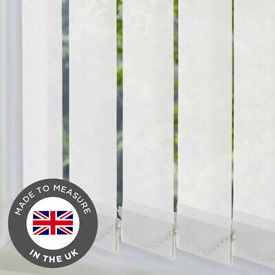 Vertical Blinds Made To Measure 89mm Louvers Slats Complete Blind - Large Sizes