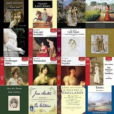 Jane Austen Huge Collection of Audiobooks on mp3 DVD